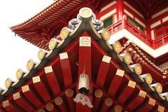 Roofline van een Tempel van Boedha Stock Fotografie