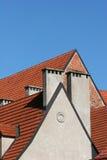 Roofs. And clear sky (Riga, Latvia Stock Photo