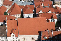 Roofs. Of the Old City (Old City, Riga, Latvia). View from St. Peter Cathedral Stock Photo