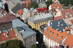 Roofs. Of the Old City (Old City, Riga, Latvia). View from St. Peter Cathedral Royalty Free Stock Image