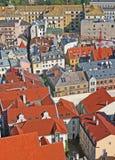 Roofs. Of the Riga city (Riga, Latvia Royalty Free Stock Photography