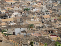 Roofs. Roof landscape of the ancient town Artà, Majorca, Balearic Islands, Spain Royalty Free Stock Photos