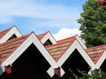 Roofs. Red tiles roofs in Klaipeda, Lithuania Stock Photo
