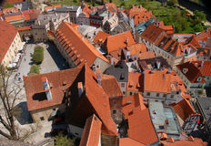 Roofs. Red roofs in the Czech Republic Royalty Free Stock Photography
