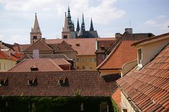 Roofs. A view of the roves and a church Stock Photography