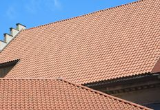Roofs. Mediterranean Tile roof royalty free stock photo