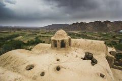 Roofs of abandoned city Kharanak, Iran, yazd Royalty Free Stock Image