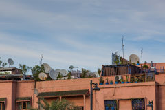 Roofs abov Marrakesh Stock Photos