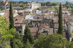 Roofs above Meran Royalty Free Stock Images