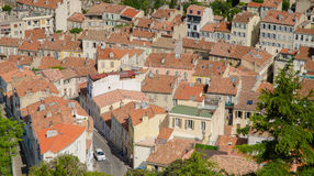 Roofs, Aerial view of houses with tiled roofs in Marseille,France Royalty Free Stock Photo