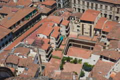 Roofs of aged city. Incredable roofs of aged city,interesting point of view Royalty Free Stock Photos