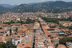 Roofs of aged city. Incredable roofs of aged city,interesting point of view Stock Images