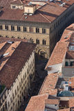 Roofs of aged city. Incredable roofs of aged city,interesting point of view Stock Photography