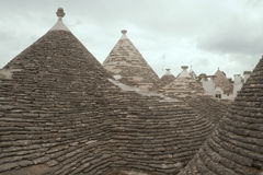 Roofs of Alborobello, 'trulli' Royalty Free Stock Image