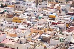 Roofs at Almeria city. View of Almeria city in Andalusia Spain Royalty Free Stock Photography