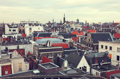 Roofs of Amsterdam Royalty Free Stock Images