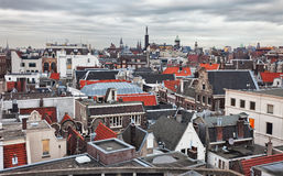 Roofs of Amsterdam Royalty Free Stock Photo