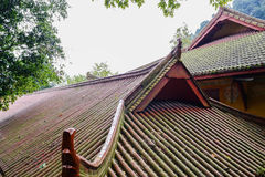 Roofs of ancient Chinese buildings on mountaintop Stock Photography
