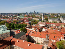 Roofs of ancient city Vilnius Royalty Free Stock Image