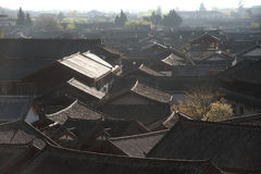 Roofs of ancient historical Lijiang Dayan  old town. Stock Image