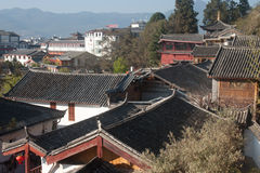 Roofs of ancient historical Lijiang Dayan  old town. Royalty Free Stock Photography