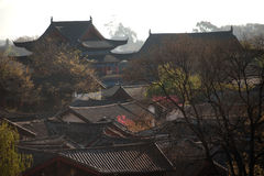 Roofs of ancient historical Lijiang Dayan  old town. Stock Photography