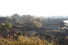 Roofs of ancient historical Lijiang Dayan  old town. Stock Photos