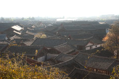 Roofs of ancient historical Lijiang Dayan  old town. Royalty Free Stock Images