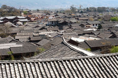 Roofs of ancient historical Lijiang Dayan old town. Stock Images