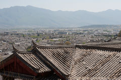 Roofs of ancient historical Lijiang Dayan  old town. Royalty Free Stock Photo