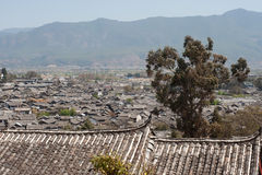 Roofs of ancient historical Lijiang Dayan  old town. Royalty Free Stock Image