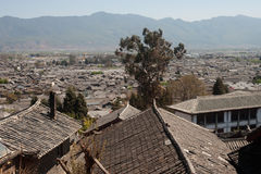 Roofs of ancient historical Lijiang Dayan  old town. Royalty Free Stock Photos