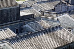 Roofs of the ancient houses Bedalinu outpost Royalty Free Stock Image