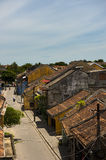 The roofs of the ancient houses with the red tiles Royalty Free Stock Photos