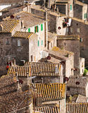 Roofs of ancient Sorano town Royalty Free Stock Photo