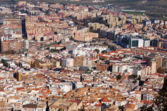 Roofs  of  andalusian city.  Jaen Royalty Free Stock Images