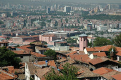 Roofs of Ankara. Royalty Free Stock Images