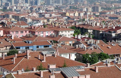The roofs of Ankara. Stock Images