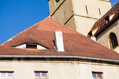 Roofs and architectural details in Sibiu, Romania Stock Image