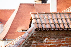 Roofs and architectural details in Sibiu, Romania Royalty Free Stock Images