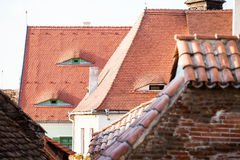 Roofs and architectural details in Sibiu, Romania Stock Photography