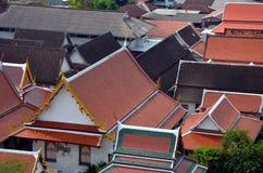 Roofs of Bangkok, Thailand Royalty Free Stock Photography