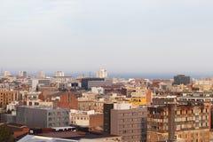 Roofs of Barcelona, Spain. Stock Photos