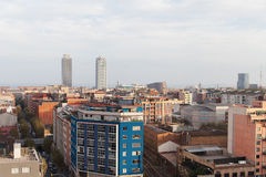Roofs of Barcelona, Spain. Royalty Free Stock Photo