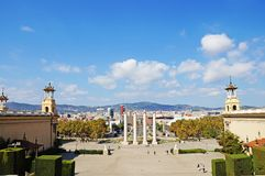 The roofs of Barcelona. View of Barcelona from above. Stock Image