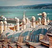 Roofs of the bath behind Suleymaniye Mosque. Istanbul Royalty Free Stock Image