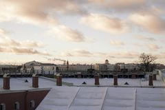 Roofs. Beautiful roofs of the big city of St. Petersburg. View from the observation platform of the Peter and Paul Fortress Stock Image