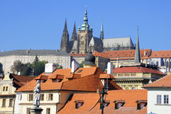 Roofs of the beautiful city of Prague. Stock Images