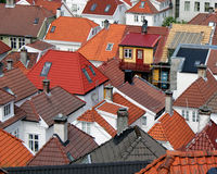 Roofs tiles wooden houses Royalty Free Stock Photos