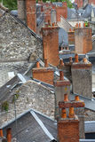 Roofs of Blois town, Royalty Free Stock Photography